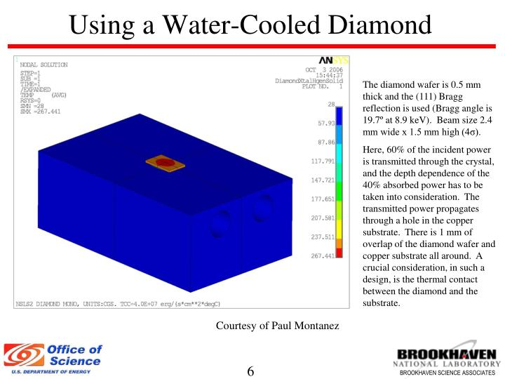 Using a Water-Cooled Diamond