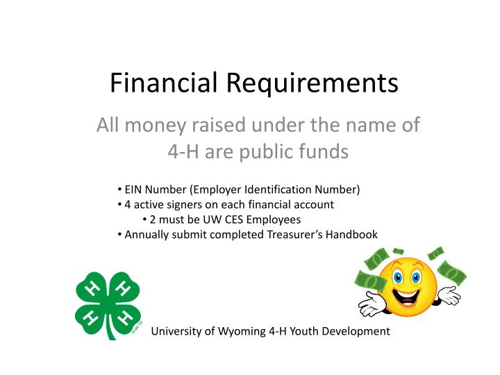 Financial Requirements