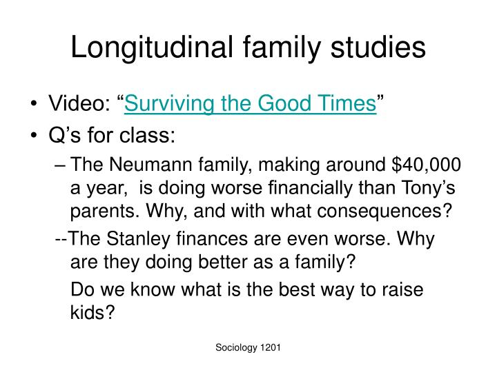 Longitudinal family studies