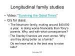 longitudinal family studies