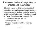 preview of the book s argument in chapter one hour glass
