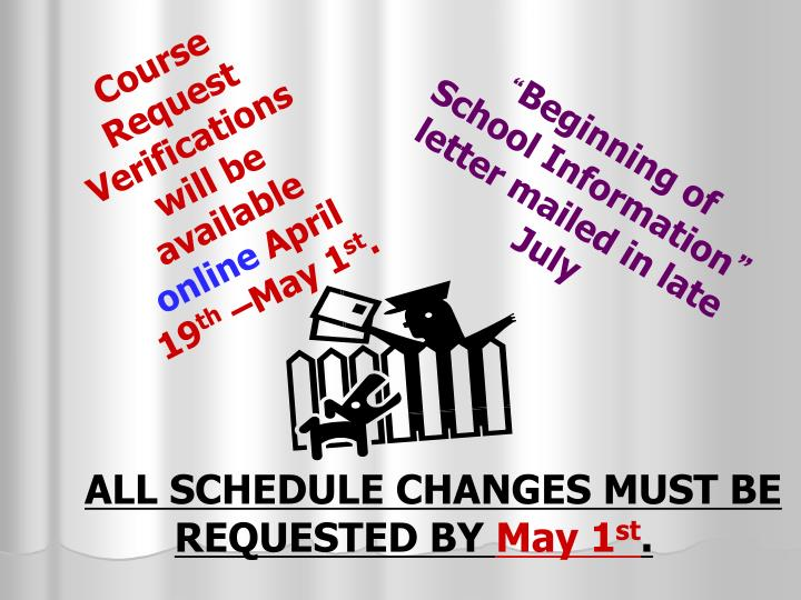 Course Request Verifications will be available