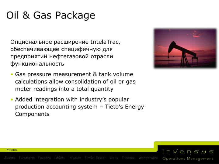 Oil & Gas Package