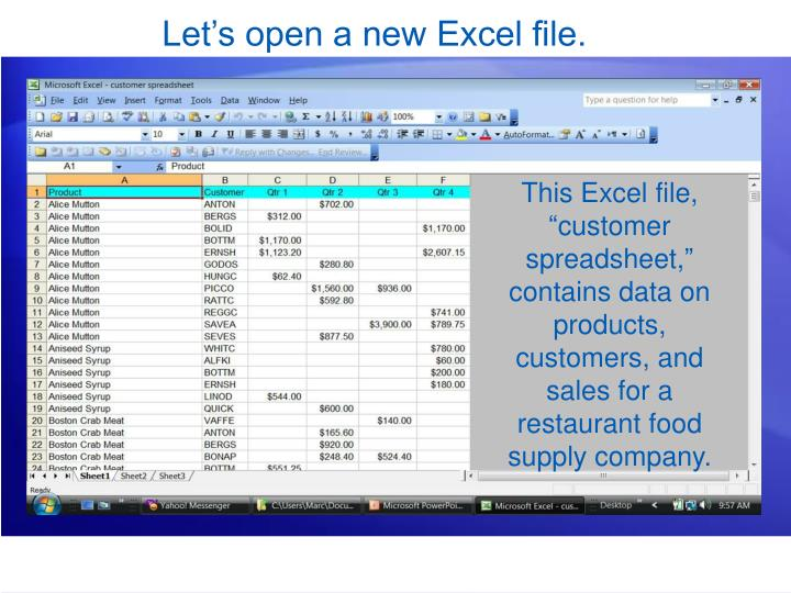 Let's open a new Excel file.