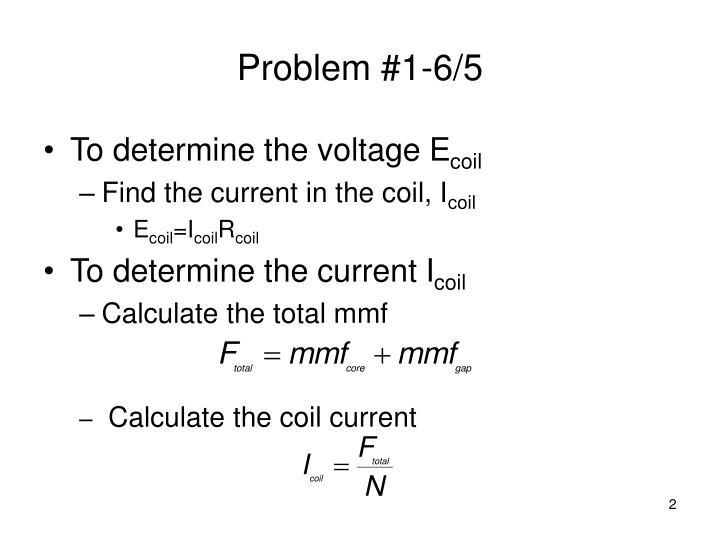 Problem #1-6/5