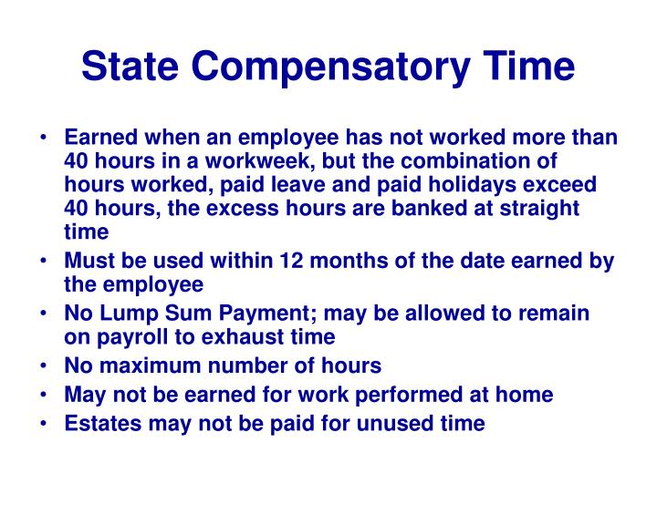 State Compensatory Time
