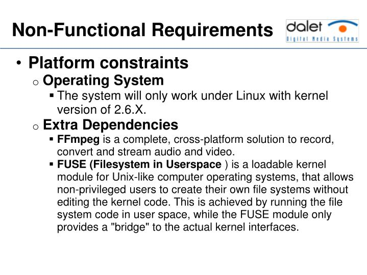 Platform constraints