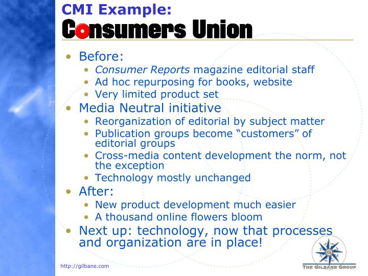 CMI Example: