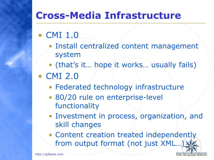 Cross-Media Infrastructure