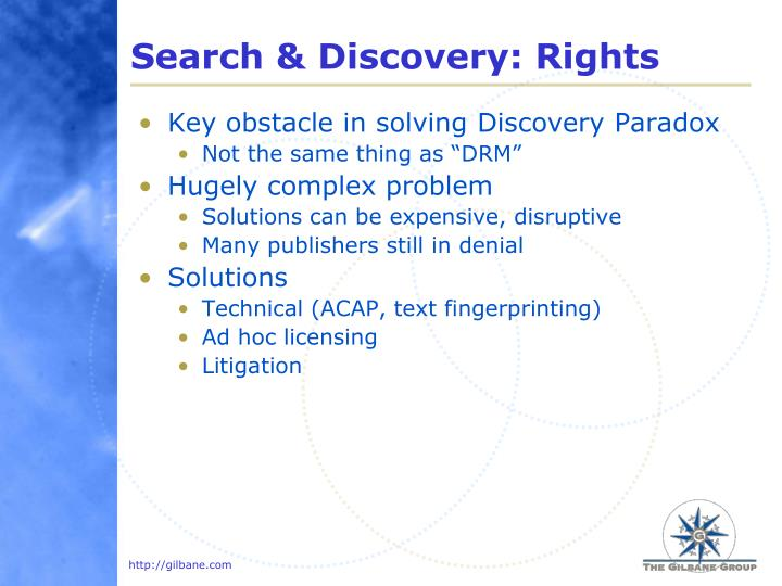 Search & Discovery: Rights