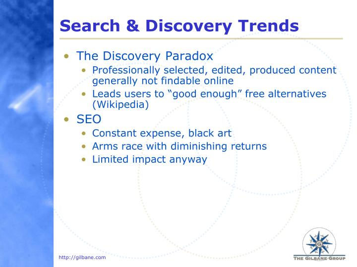 Search & Discovery Trends