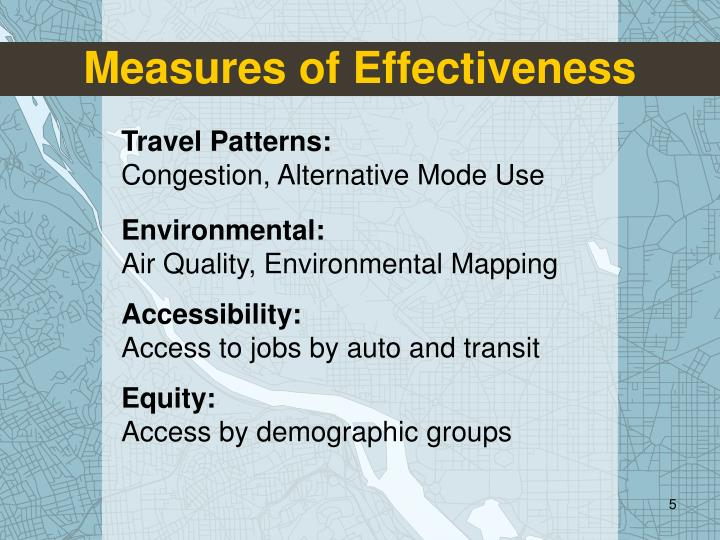 Measures of Effectiveness