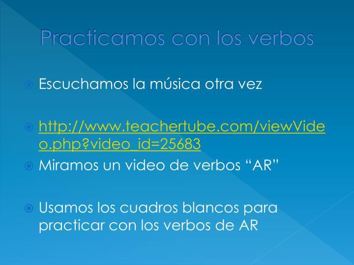 Practicamos con los verbos