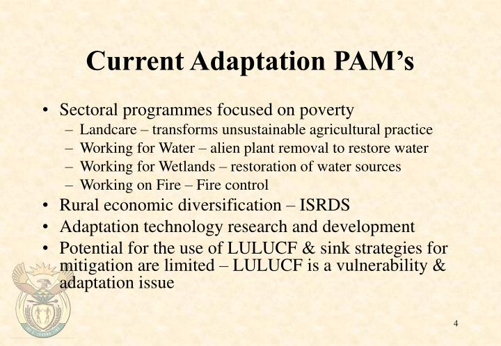 Current Adaptation PAM's