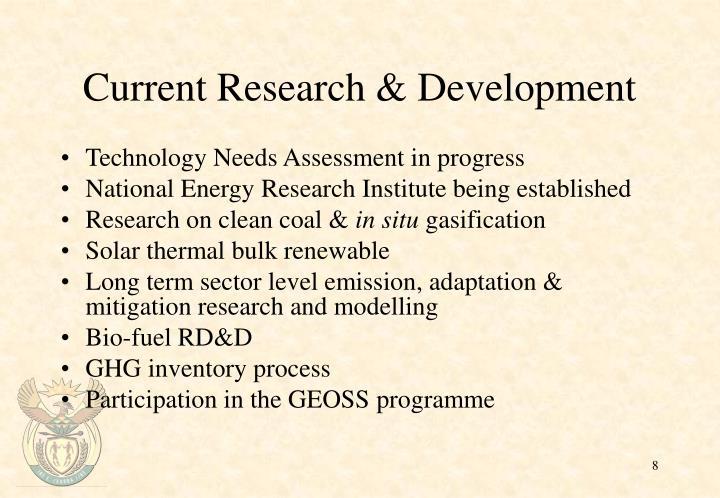 Current Research & Development