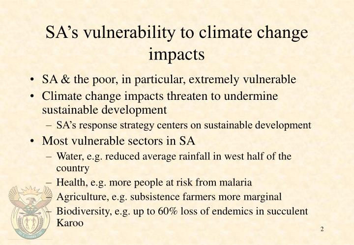 Sa s vulnerability to climate change impacts