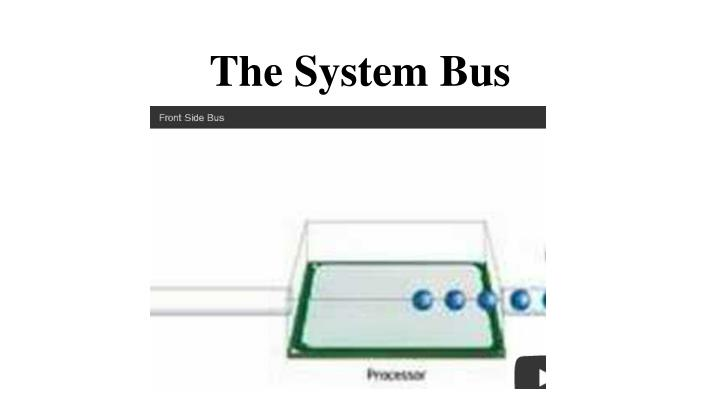 The System Bus