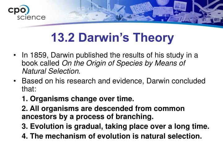 13.2 Darwin's Theory