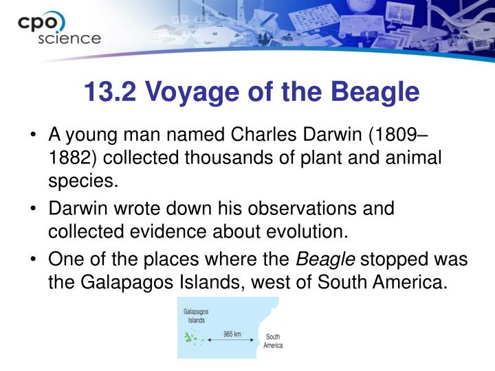 13.2 Voyage of the Beagle