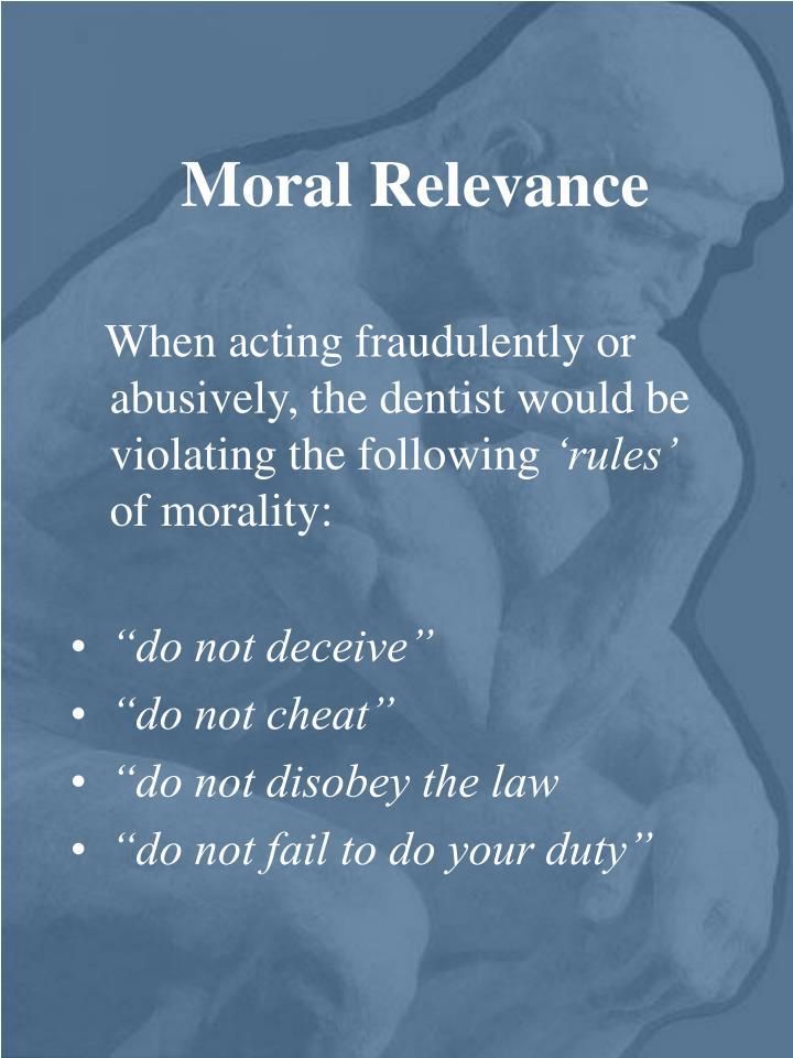 Moral Relevance