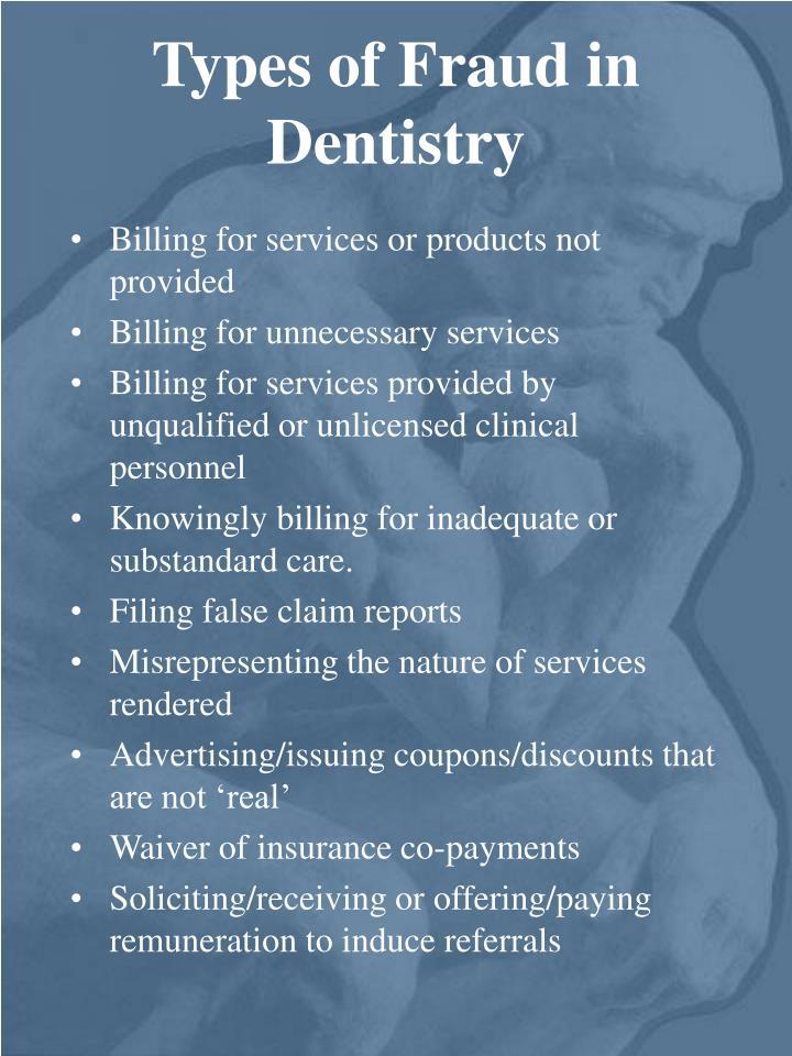 Types of Fraud in Dentistry