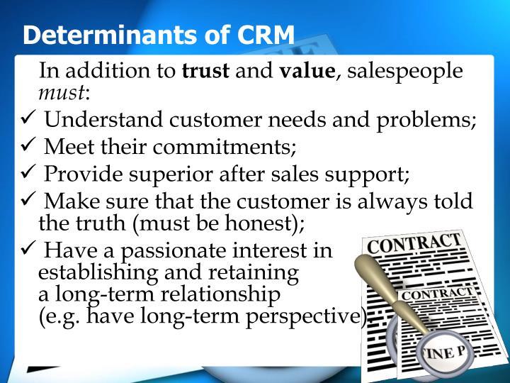 Determinants of CRM
