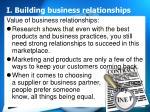 i building business relationships