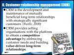 ii customer relationship management crm