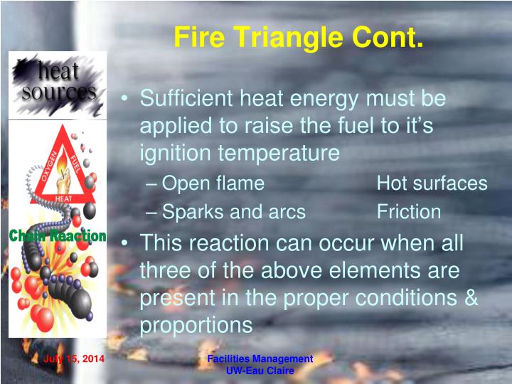 Fire Triangle Cont.