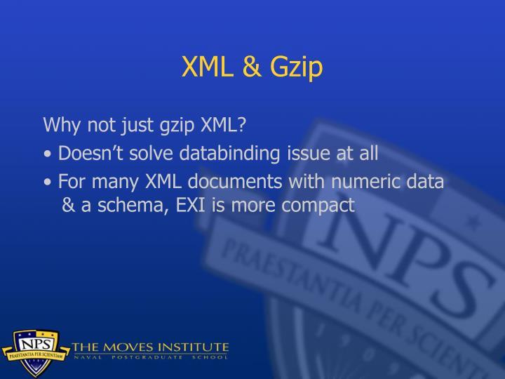 XML & Gzip