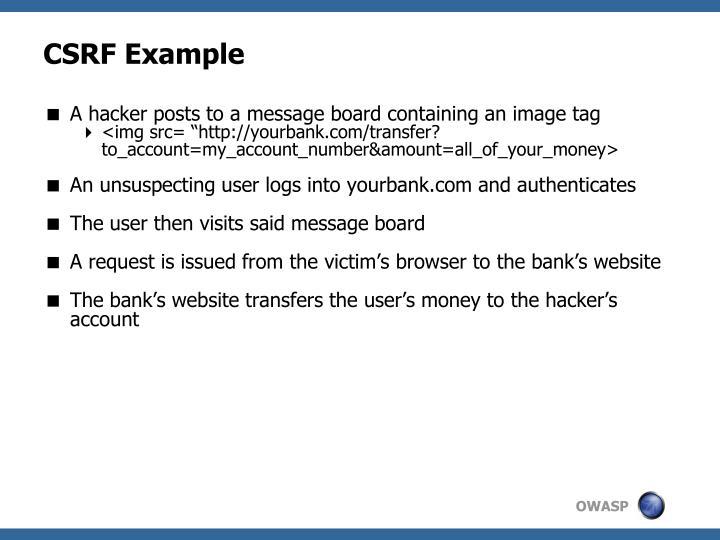 CSRF Example