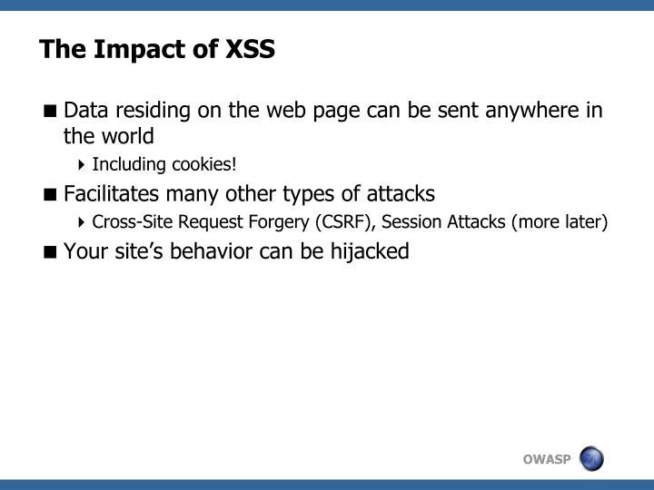 The Impact of XSS