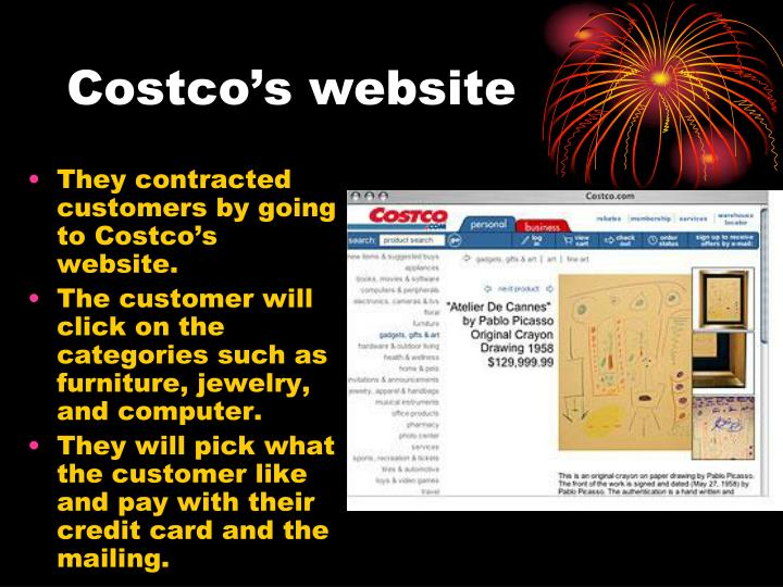 Costco's website
