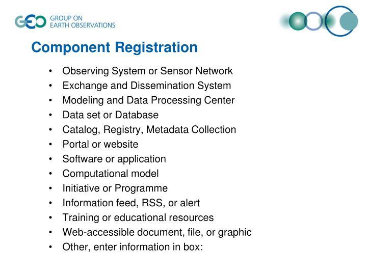 Component Registration