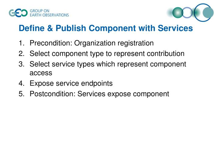 Define & Publish Component with Services