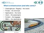what is infrastructure and who cares