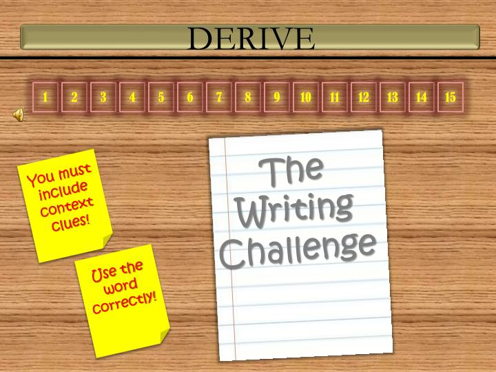 The writing challenge