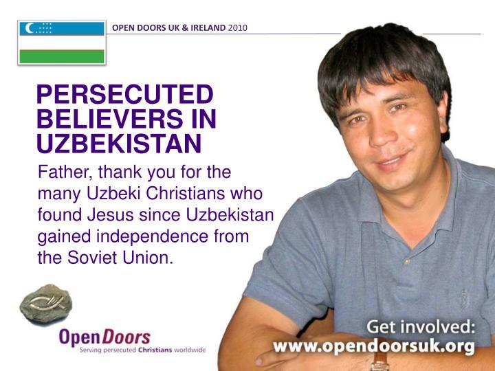 OPEN DOORS UK & IRELAND