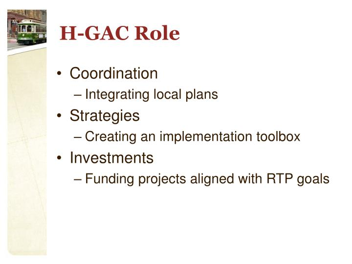 H-GAC Role