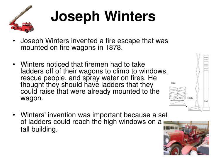 Joseph Winters Fire Escape Ladder : Ppt black inventors powerpoint presentation id