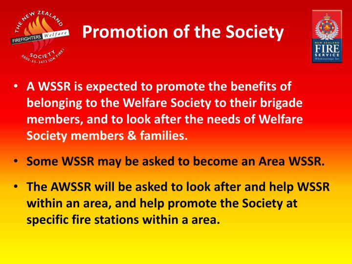 Promotion of the Society