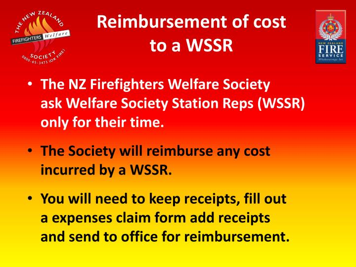 Reimbursement of cost