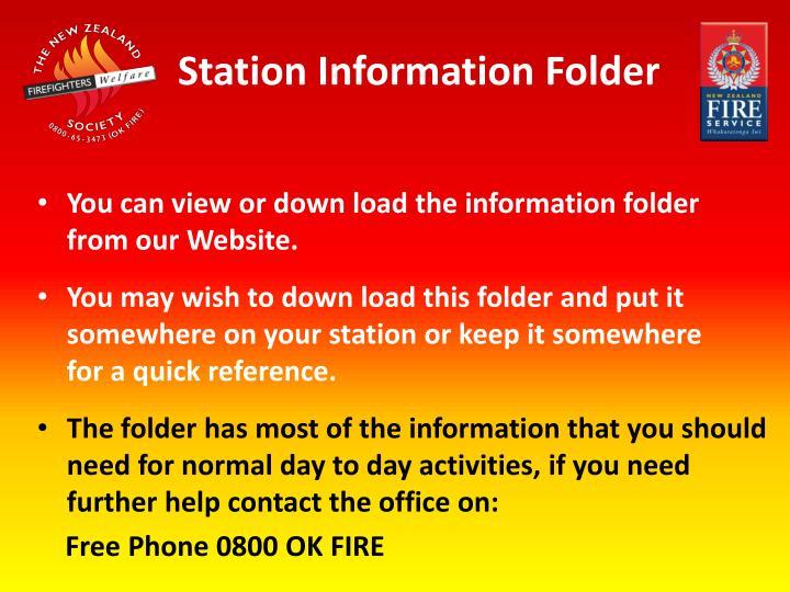 Station Information Folder