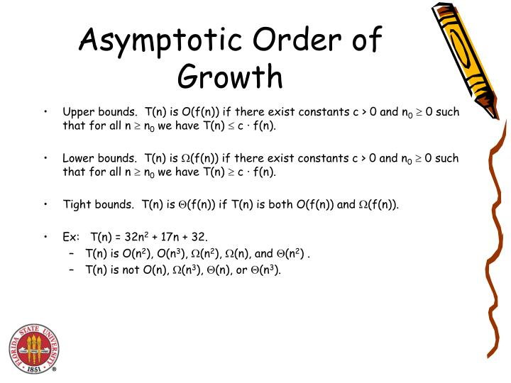 Asymptotic Order of Growth