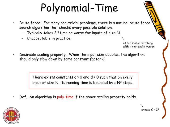 Polynomial-Time