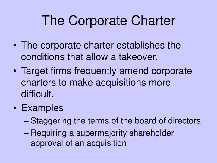 The Corporate Charter