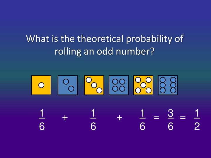 What is the theoretical probability of rolling an odd number?