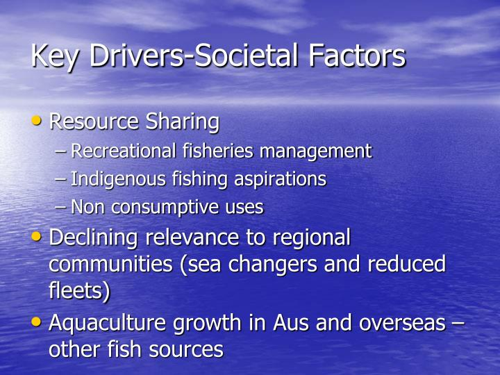 Key Drivers-Societal Factors