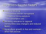 key drivers societal factors