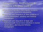 rationalisation restructuring economic efficiency cont1